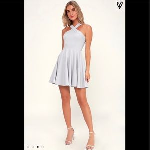 Lulus halter grey dress M